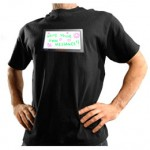 Camiseta Con Pizarra LED