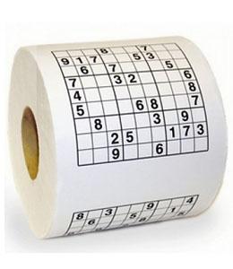 Rollo de Papel Higiénico Sudoku