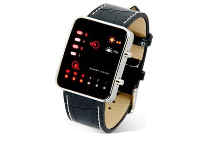 Relojes binarios de pulsera con pantalla LED