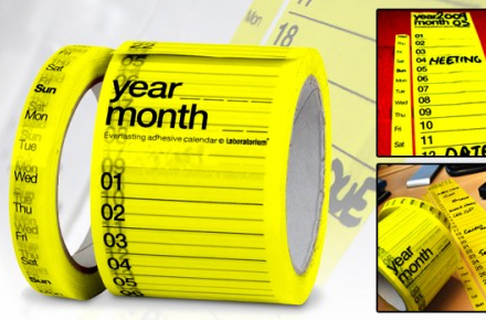 Calendario adhesivo