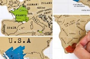 Mapamundi para viajeros scratch map