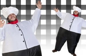 Disfraz de chef inflable