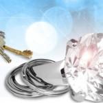 Anillo con diamante para llevar las llaves de casa con glamour