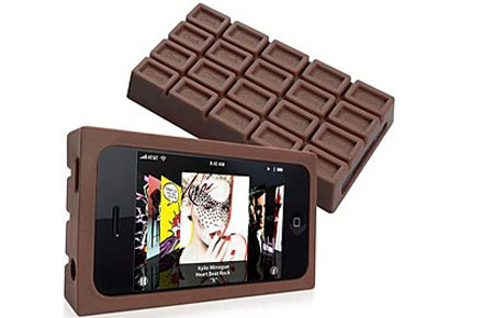 Funda friki iPhone de chocolate