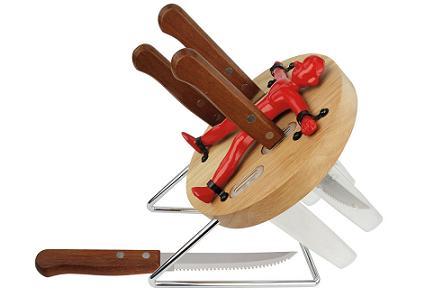 Pack de cuchillos y base de lanzador de cuchillos