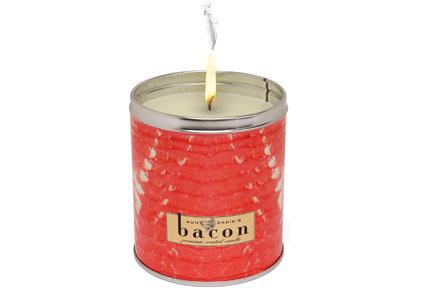 Vela con aroma a bacon