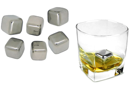 Cubitos de hielo metálicos