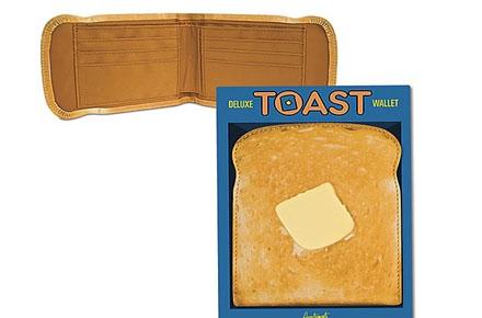 Billetera con forma de tostada