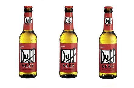 Botellines de Cerveza Duff de Los Simpsons