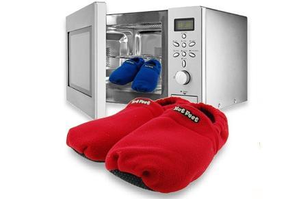 Zapatillas calentables para microondas
