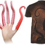 Dedos tentaculares y camiseta tentáculo