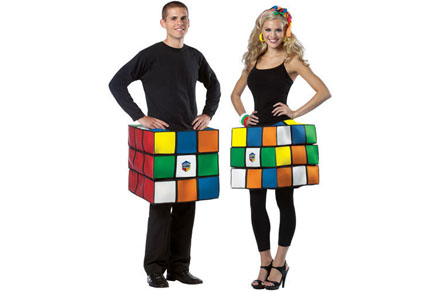 Disfraz friki de cubo de rubic