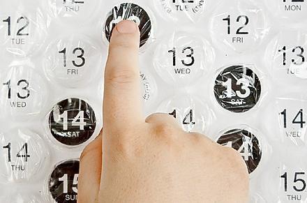 Calendario de Burbujas Explotables