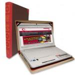 Funda para portátil con forma de libro