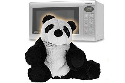 Oso panda para microondas