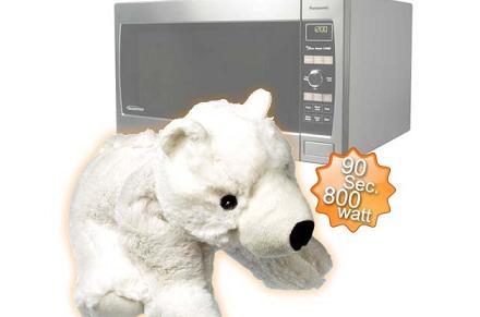 Oso polar para microondas