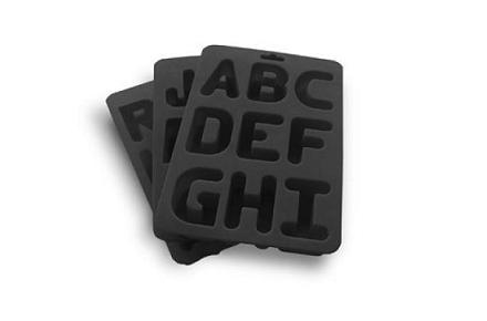 Cubitos de hielo del abecedario