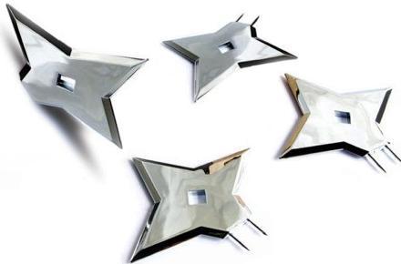 Chinchetas estrellas ninja