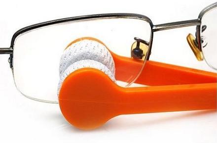 Limpiador de gafas con microfibras