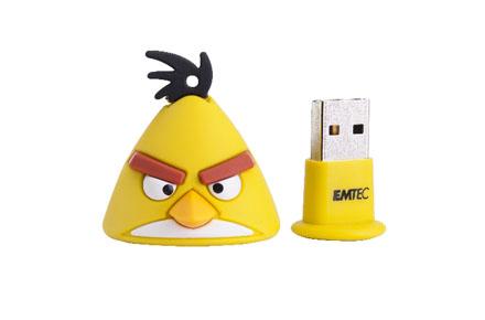 Pendrive pájaro amarillo de Angry Birds