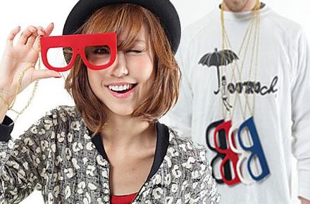 Cámara con formas de gafas de pasta