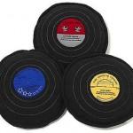 Cojines con forma de discos de vinilo