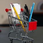 Mini carrito de la compra para escritorio
