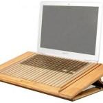 Soporte para portátil ecológico con ventiladores
