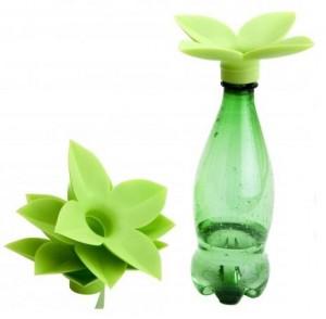 Embudo para botellas con forma de flor