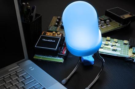 Lámpara con forma de diodo