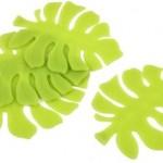 Posavasos con forma de hoja, para frikis verdes