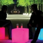 Taburete LED que cambia de color