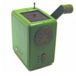 Radio solar con manivela