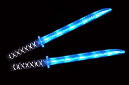 Espada ninja con luz LED