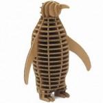 Pingüino de cartón, para frikis ecológicos