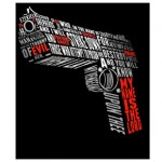 Camiseta pistola Pulp Fiction