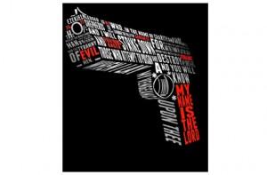 Camiseta pistola Pulp Fiction