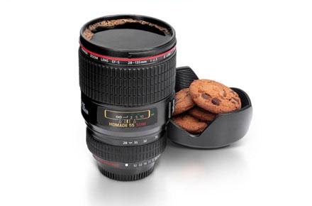 Taza objetivo cámara de fotos