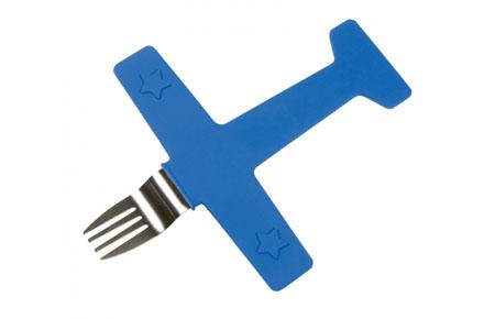 Tenedor con forma de avión