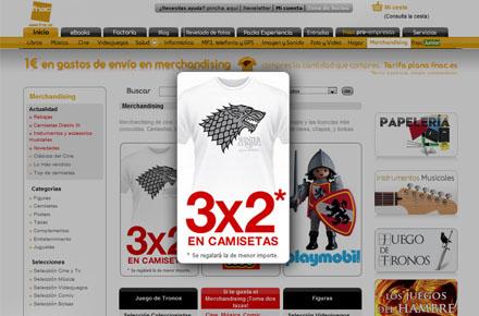 Camisetas 3x2 en Fnac Online