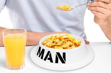 """Bol de desayuno """"man"""""""