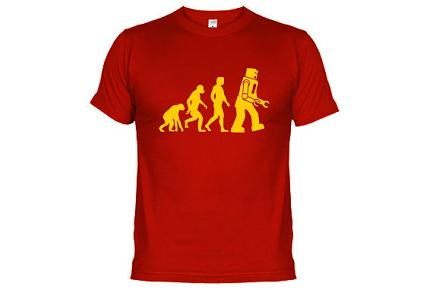 Camiseta de Sheldon Evolución