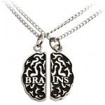 Colgante de Cerebro Zombie, para tu mejor amigo o tu pareja perfecta