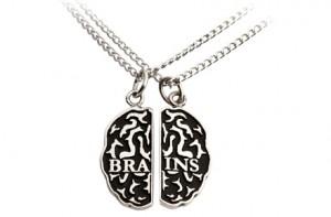 Colgante de la amistad Cerebro Zombie