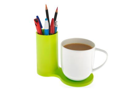 Lapicero con soporte para tazas