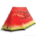 Tienda de campaña con forma de Sandia para las acampadas más frikis