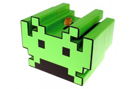 Hucha con sonido Space Invaders