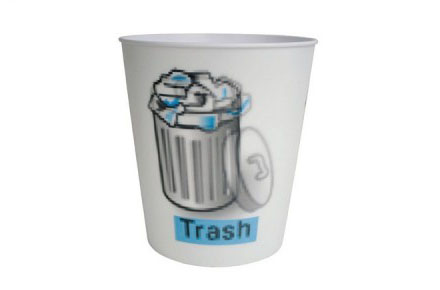 "Cubo de basura lenticular ""Icono papelera"""