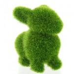 Peluche de Hierba Verde con forma de Conejo