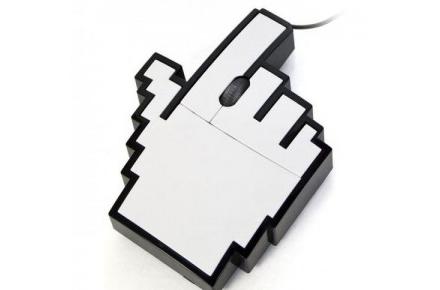 Ratón de mano Pixelada
